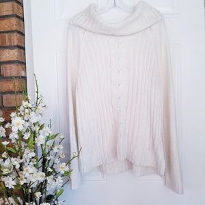A.N.A Knitted White Cowl Neck Sweater Sz XL